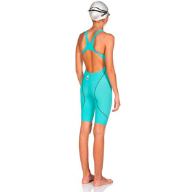 arena Powerskin St 2.0 Short Leg Open Combinaison courte Fille, aquamarine
